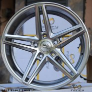 HYPER SILVER FACE MACHINED ALLOY WHEEL