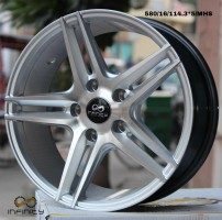 Silver with Black line MHS finish alloy wheel